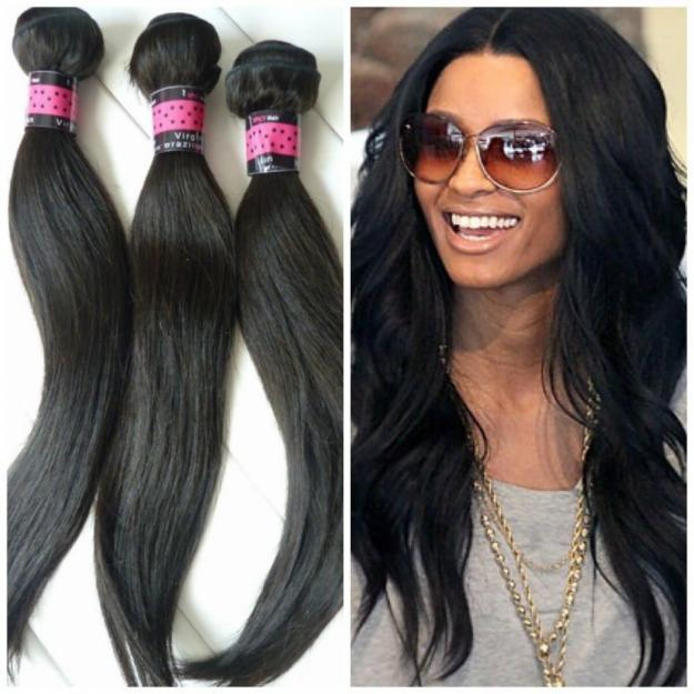 100% Real Human Hair Extensions Virgin Brazilian Hair Weft