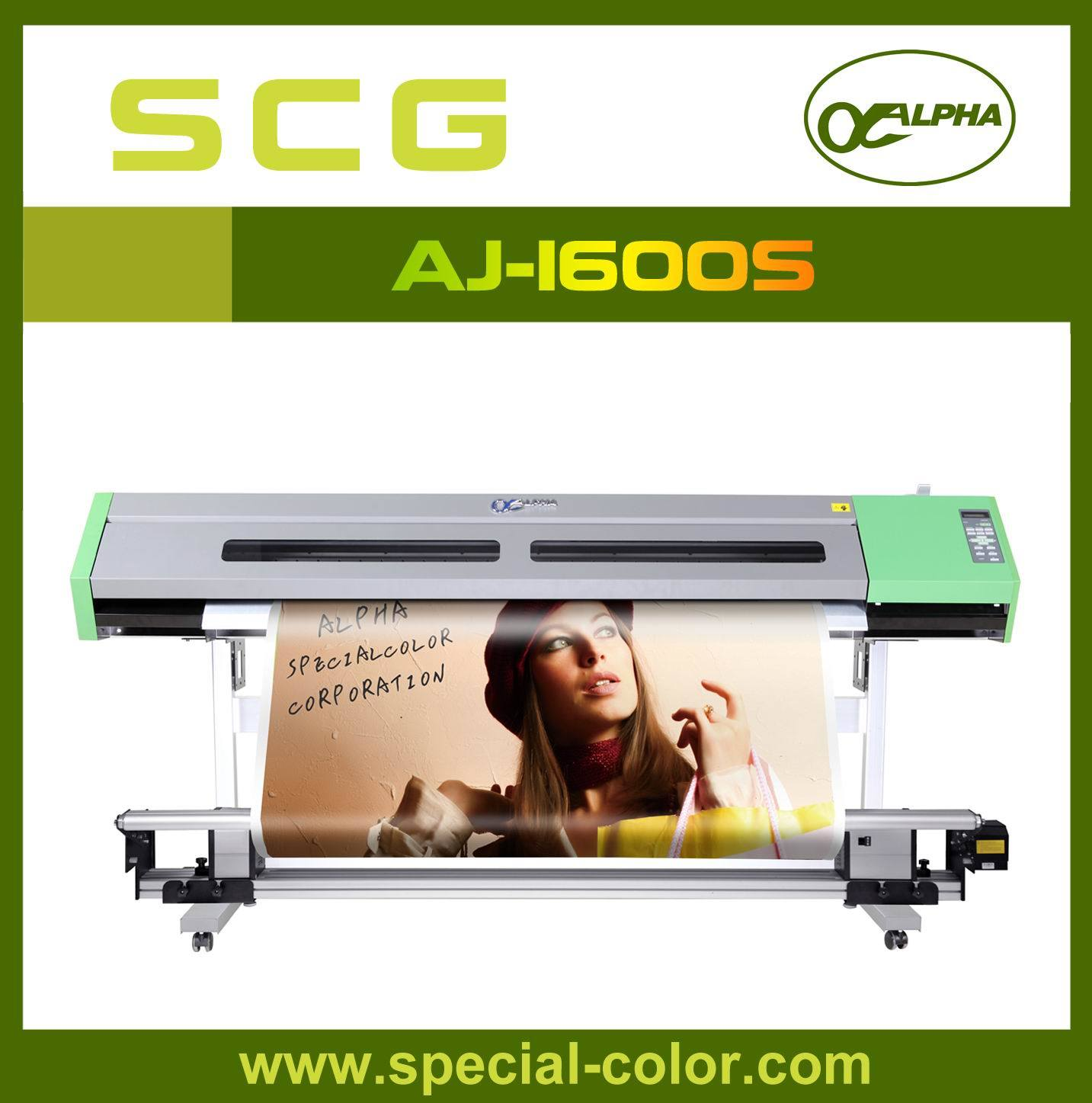 Waterbased Dx5 Alpha Best Inkjet Printers Aj-1600 (W)