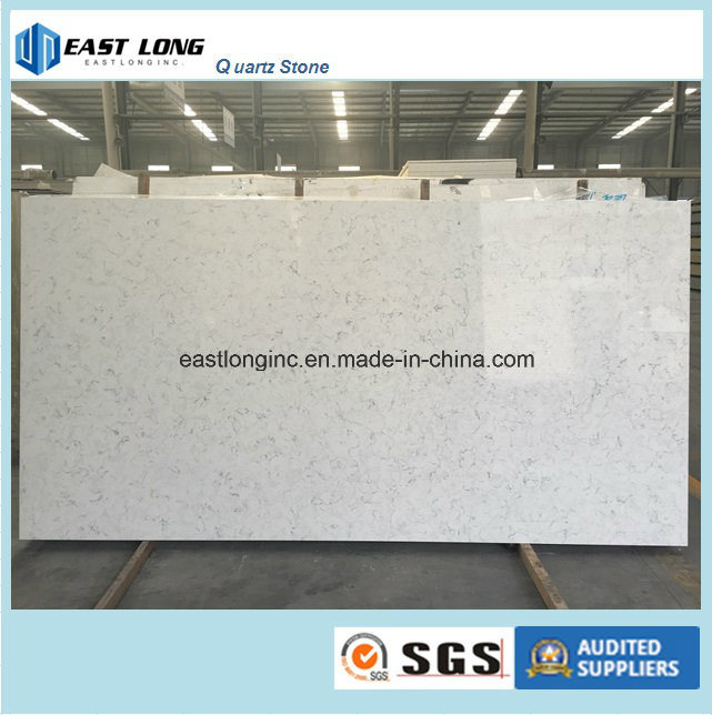 White Marble Color Quartz Slab Table Top of Building Material/ Solid Surface