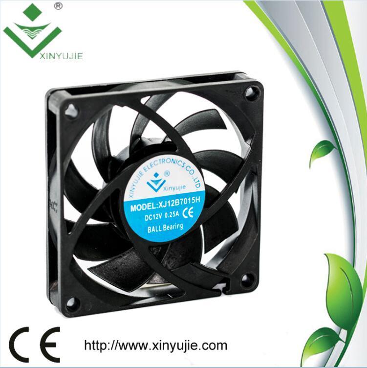 High Quality 70mm 12V Mini Plastic Fan Blade 70X70X15mm