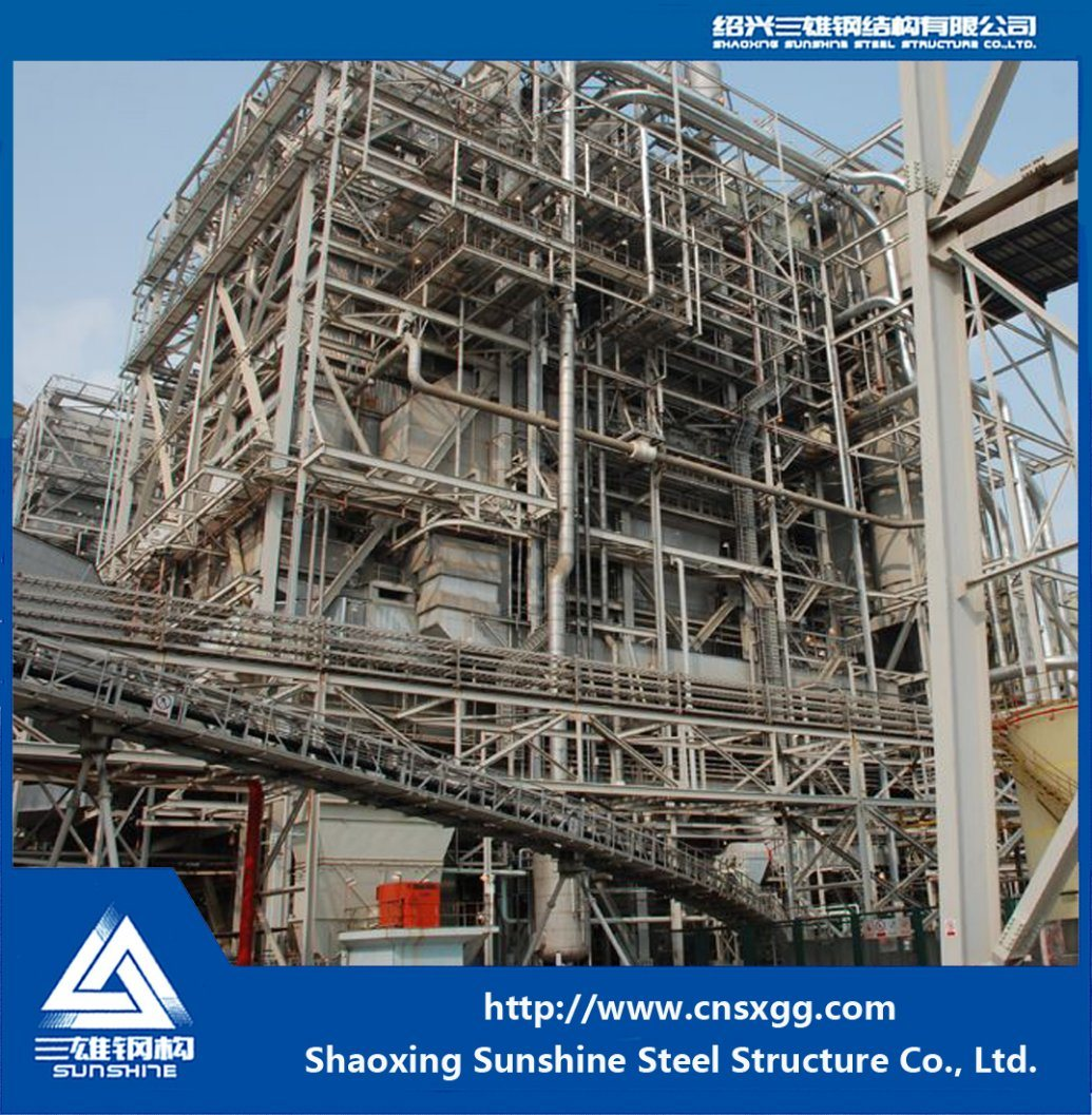 Coal-Fired Steel Structure Power Plant with Desulfurized Building Material