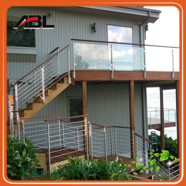 China stainless steel balcony glass railing design photos for Balcony steel railing designs pictures
