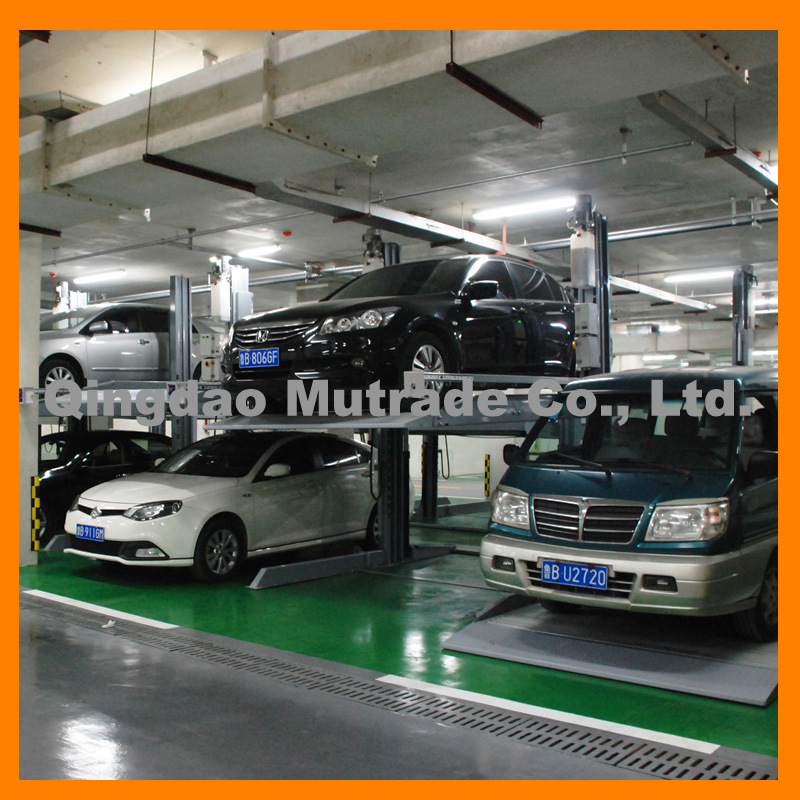 CE Hydraulic Two Post Car Parking Lift, Double Layer Hydraulic Parking Lift (TPP-2)