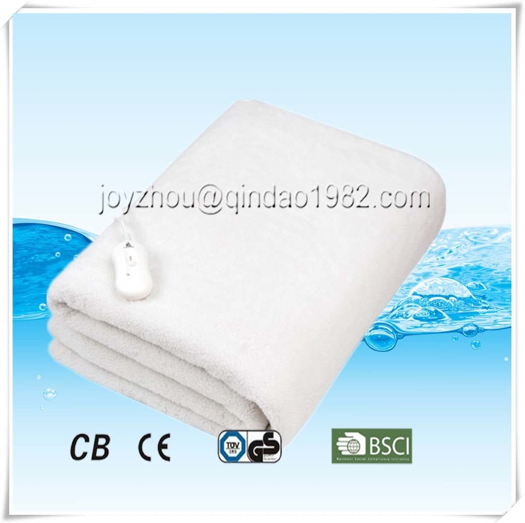 Comfortable Polar Fleece Electric Heated Blanket with Over Heat Protection
