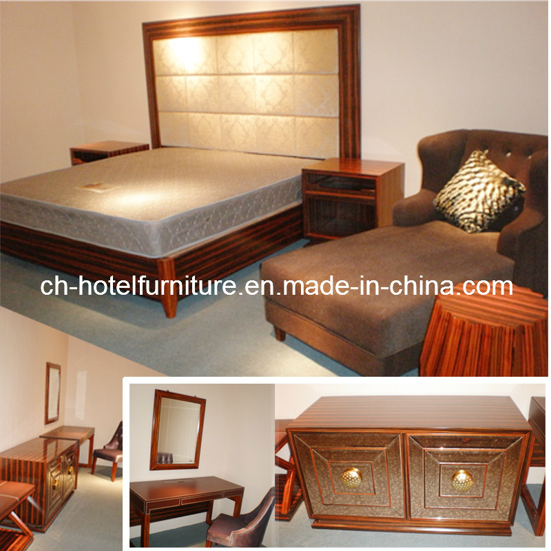 2016 Kingsize Luxury Chinese Wooden Restaurant Hotel Bedroom Furniture (GLB-60008)