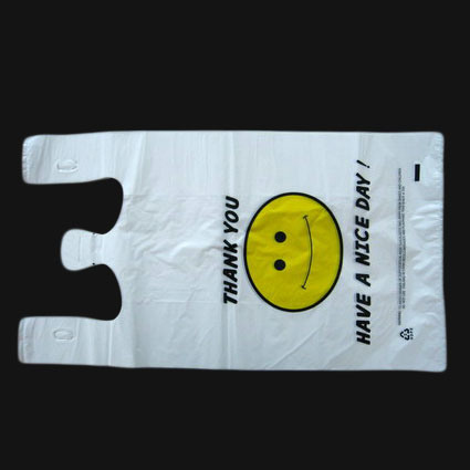 HDPE Customized Printing Plastic T-Shirt Bag