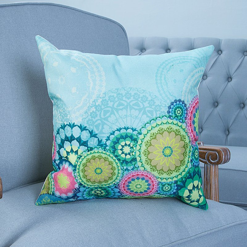 Digital Print Decorative Cushion/Pillow with Ikat Geometric Pattern (MX-36)