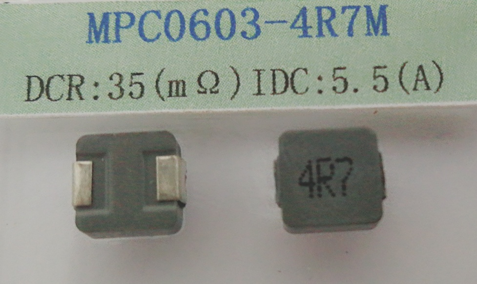 Power Inductor 4.7uh 20%, Temperature Rise Current~5.5AMP, Size: 6.8*6.8*3.0mm