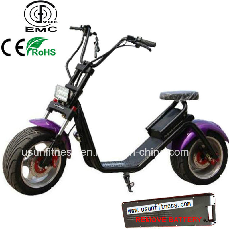 2017 New 1000W Motorcycle Scooter with Remove Battery