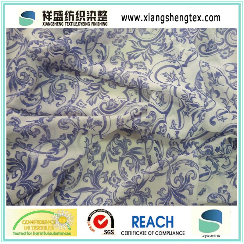 Chiffon Printed Fabric for Women′s Dress