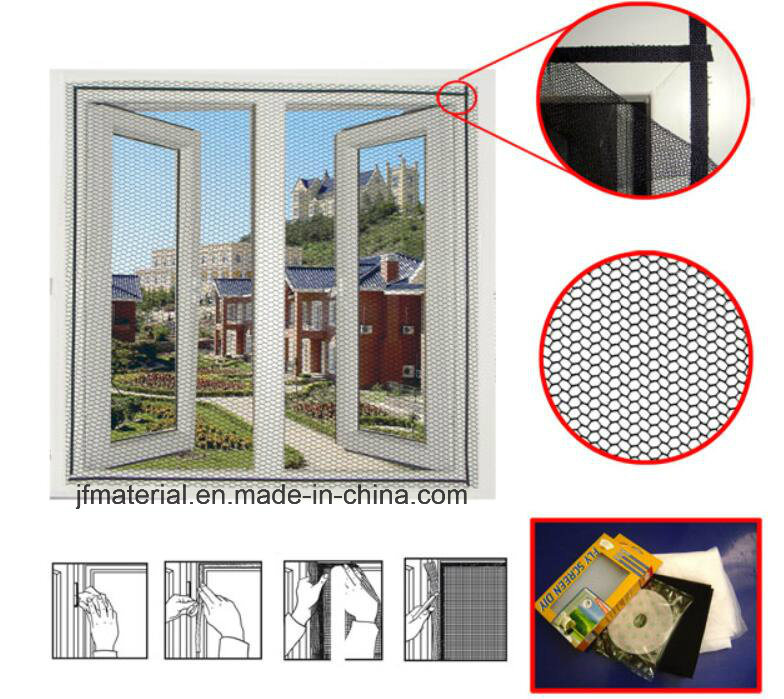 DIY Polyester Magnetic Screen Fly Screen Mosquito Net Insect Screen