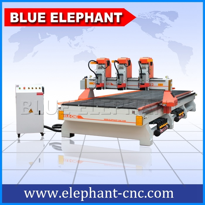 1660 Multi-Heads Wood CNC Router, CNC Wood Cutting Machine with 3 Heads