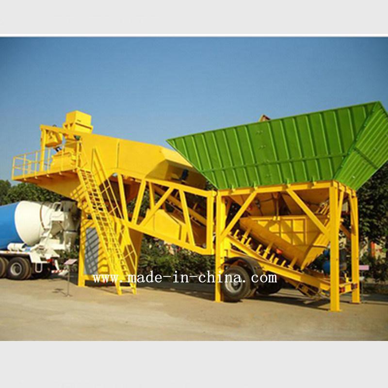 50m3/H Unique Technology Automatic Mobile Concrete Mixing / Batching Plant