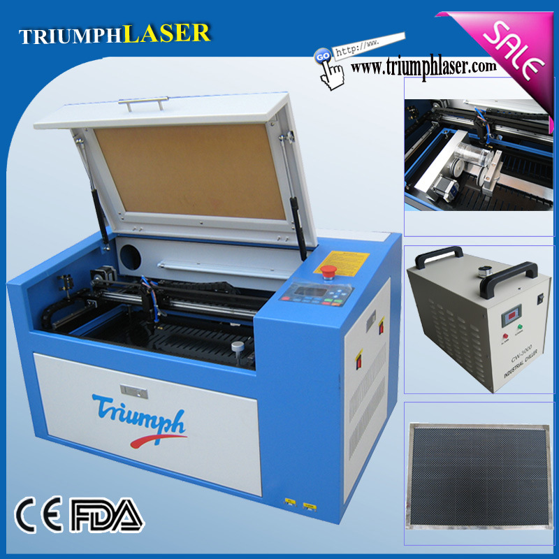 Triumphlaser Mini Desktop Type High Precision Auto Focus CO2 Laser Cutting Machine / Laser Engraver for All Non-Metals Tr-6040 600*400mm (23.6''x 15.7