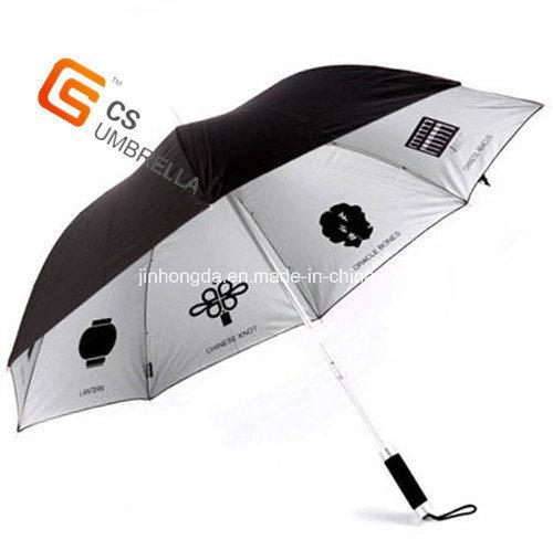 Sliver Coated Print Advertising Umbrella (YS-1016A)