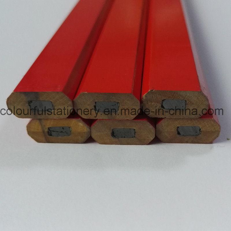 Hb Wooden Carpenter Pencil for Promotion Gift