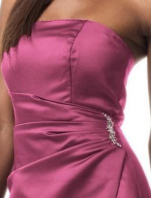 Ladies Elegant Purple Strapless Maxi Evening Dresses