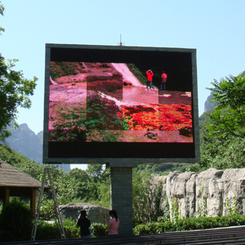 Full color outdoor led display screen china led display for Exterior led screen