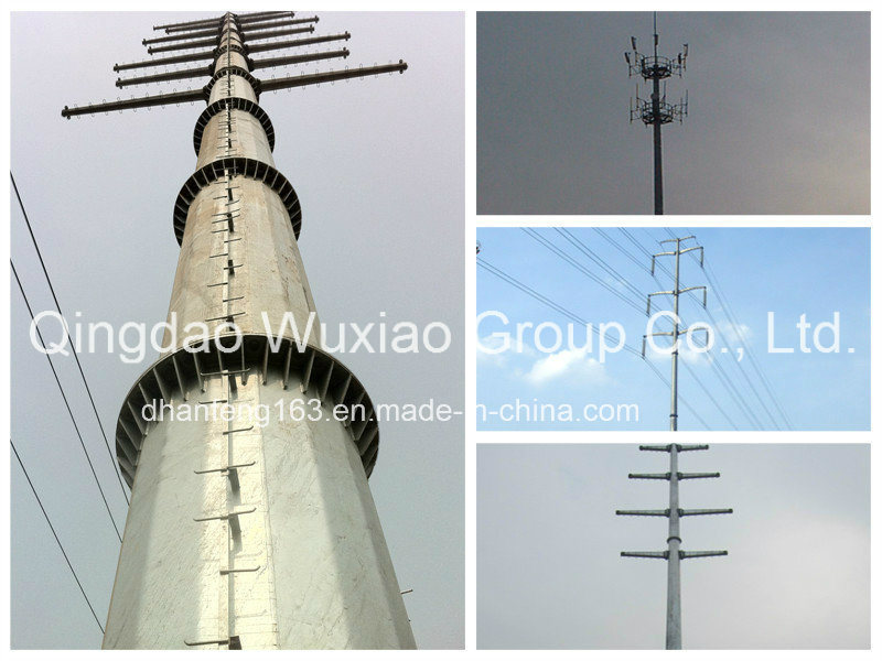Steel Pole Tower for Power Transmission