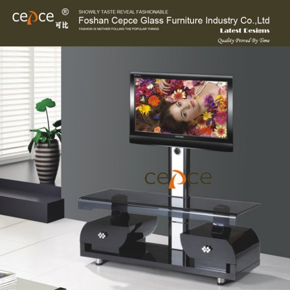 Led Tv Stand Designs Wooden : China new design wooden lcd led tv stand with drawer