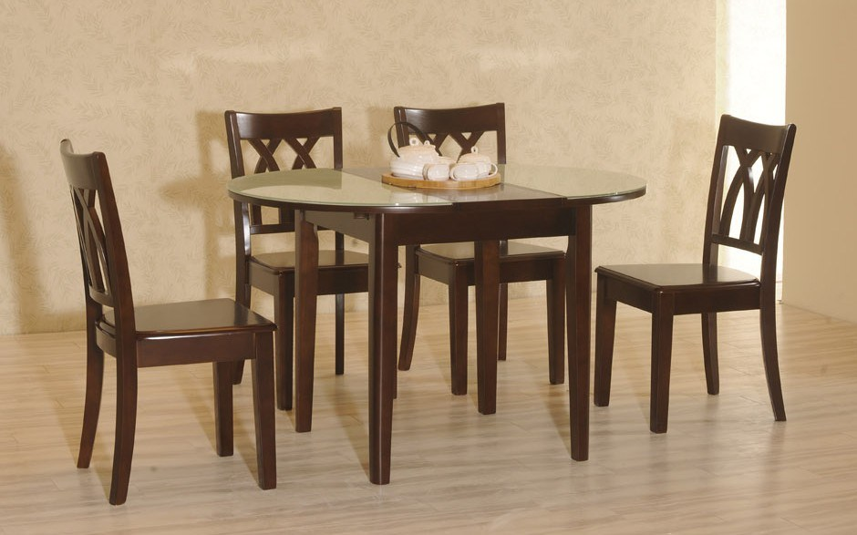 China Wood And Tempered Glass Dining Table T831 C032 Photos