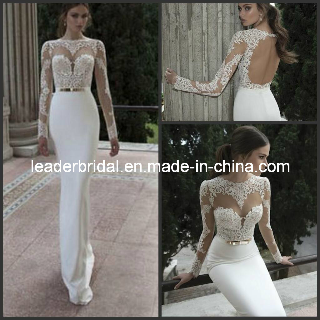 China New Sheer Wedding Dresses Berta Winter Illusion