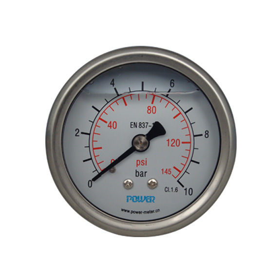 63mm Double Scale Wika Pressure Gauge En837-1 with Silicone Oil