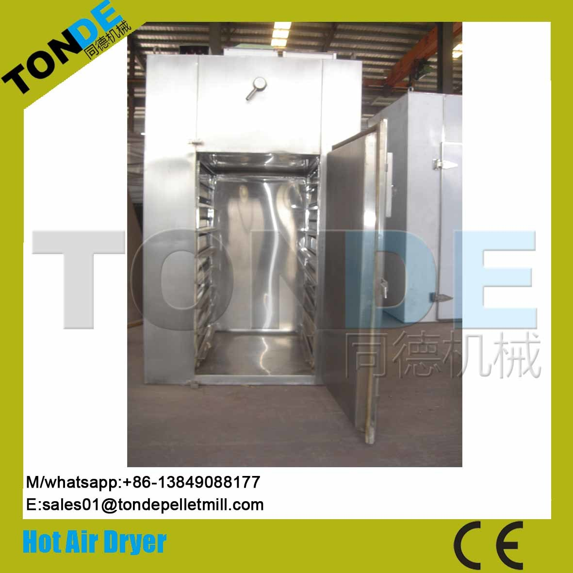 Stainless Steel Hot Air Vegetable Fruit Dehyrating Machine