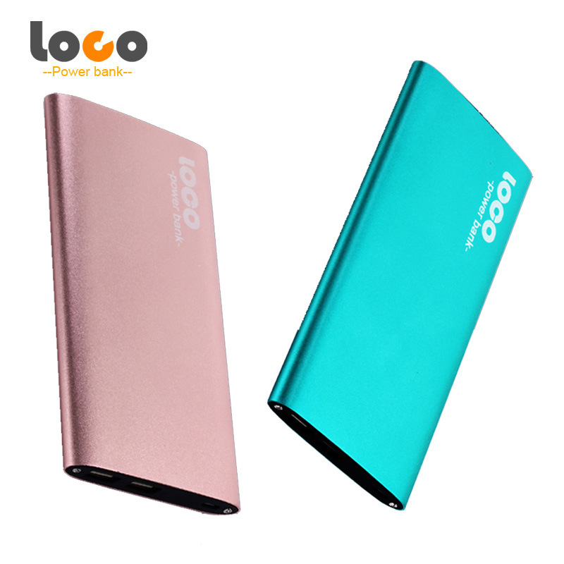 Slim Aluminium Alloy Portable 12000mAh Power Bank with Dual Output, LED Display