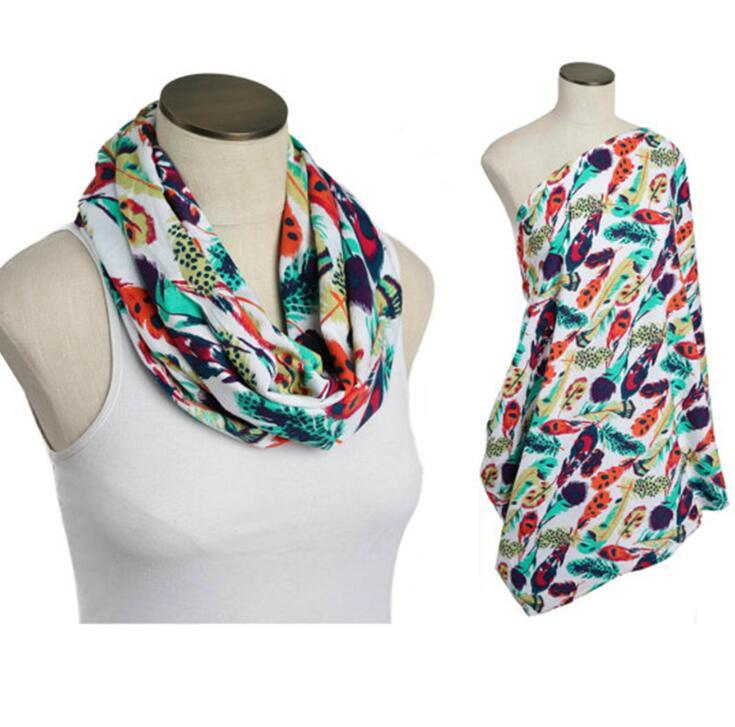 Hot Selling Soft Cotton Infinity Scarf Nursing Scarf