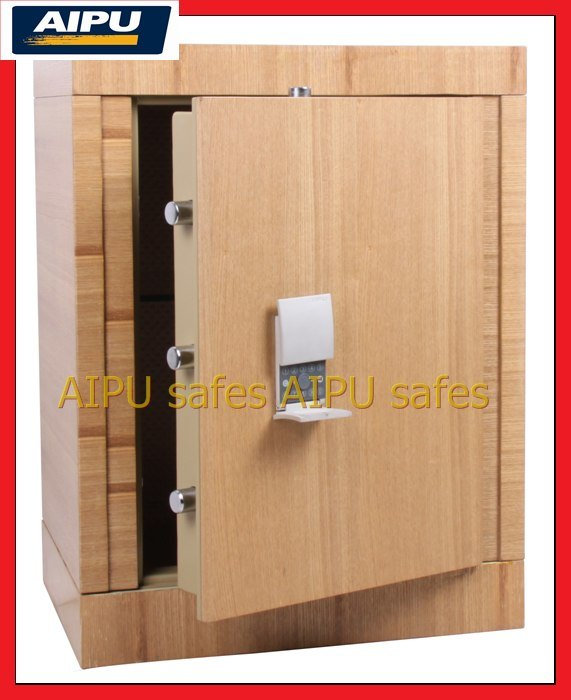 China Wooden Finish Luxury Fire Proof Safe With Electronic
