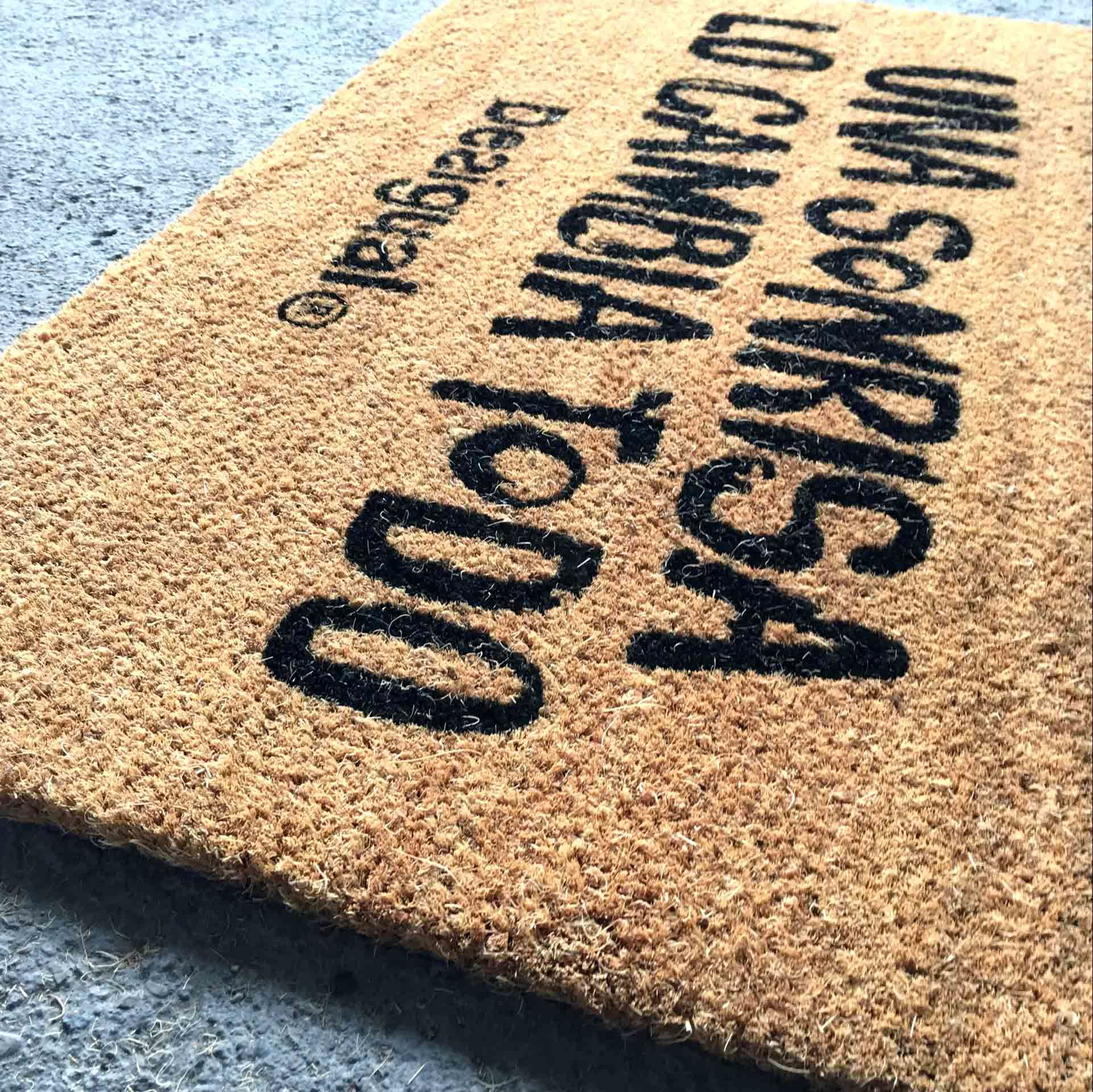 Natural Gold Brown Coconut Coco Coir Fiber Koko Welcome Entrance Outdoor Floor Door Mats