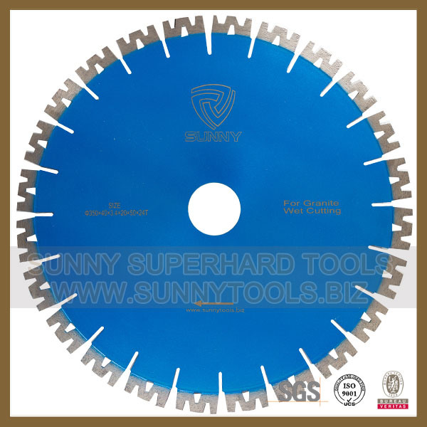 Super Quality W Shape Diamond Wet Cutting Disc for Granite (Sunny Tools 015)
