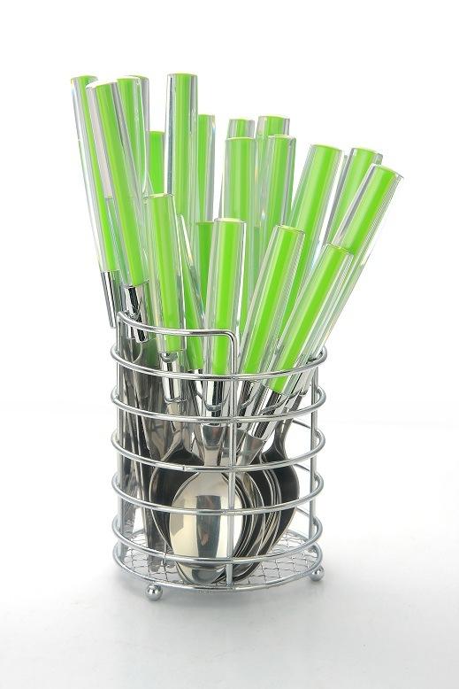 24PCS Plastic Handle Cutlery Set