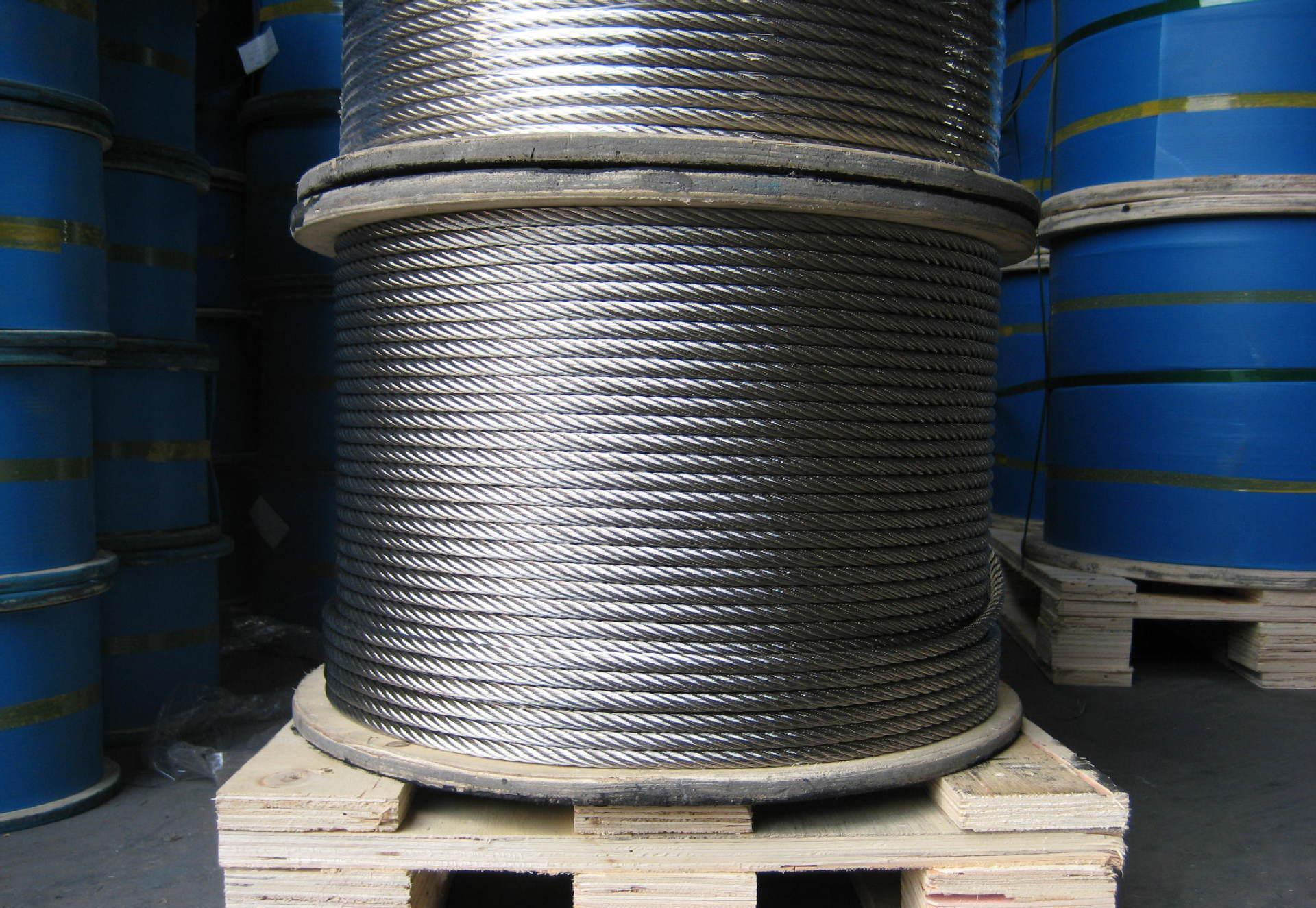 7X19 Steel Wire Rope Zinc Plated