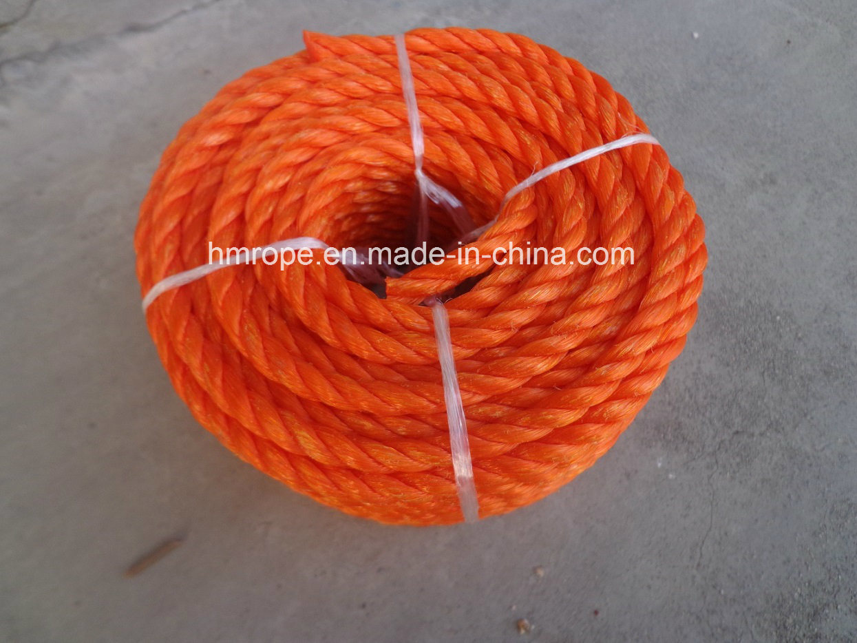 PP Monofilament PE Twisted Rope 3 Strands Fishing