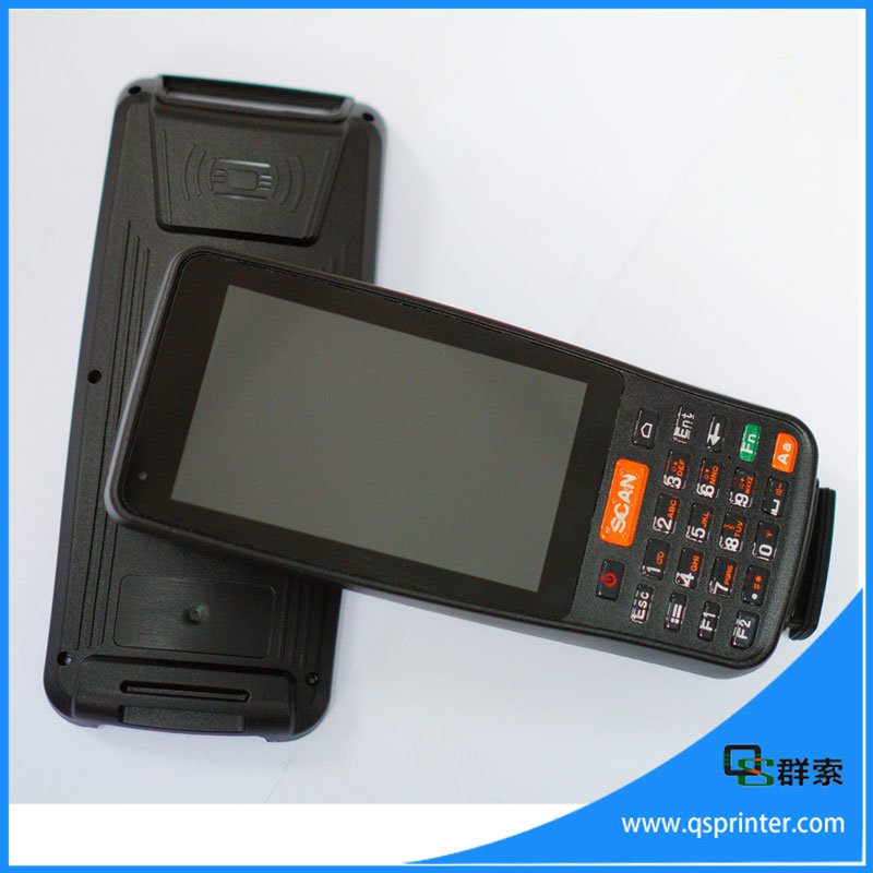 4 Inch Touch Screen Rugeed PDA Android Handheld Terminal Barcode Scanner with NFC/4G
