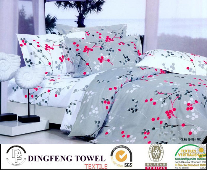 100% Cotton Bed Set Home Textile Products Df-8824