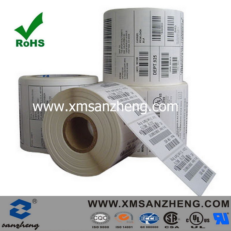 OEM Paper Serial Glossy Sticky Solvent Resistant in Roll Barcode Stickers