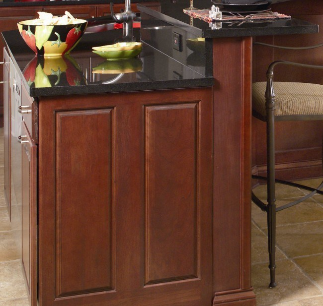 Solid Wood Cherry Kitchen Cabinets: China (Solid Cherry Wood Kitchen #2012-39) Kitchen Cabinet