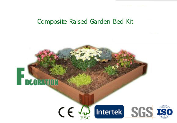 """WPC Composite Raised Bed Garden Kit Planter 42"""" X 84"""" X 8"""" for Growing Healthy Vegetables"""