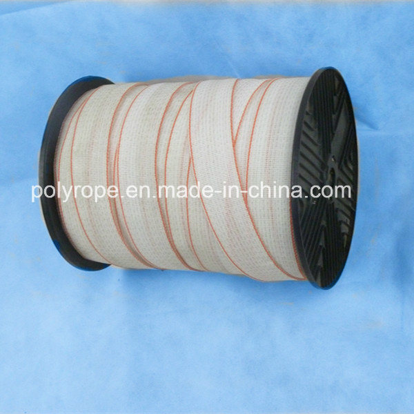 Red and White Heavey Horse Electric Polytape