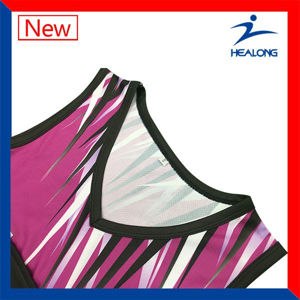 Custom Full Sublimation Womens Team Sports Gear Clothing Netball Dresses