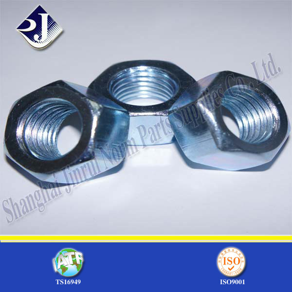 Hex Nut with Blue Zinc