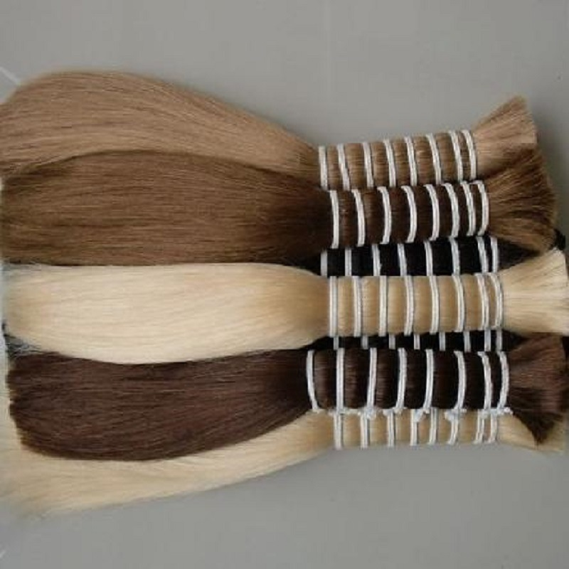 100% European Virgin Remy Doule Drawn Human Hair Bulk