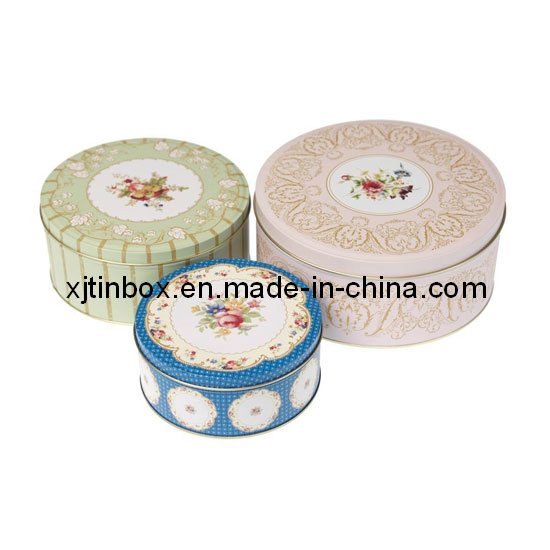 Promotional Round Gift Tin Box Set, Round Tin Box Set, Gift Tin Box Set (XJ-014Y)