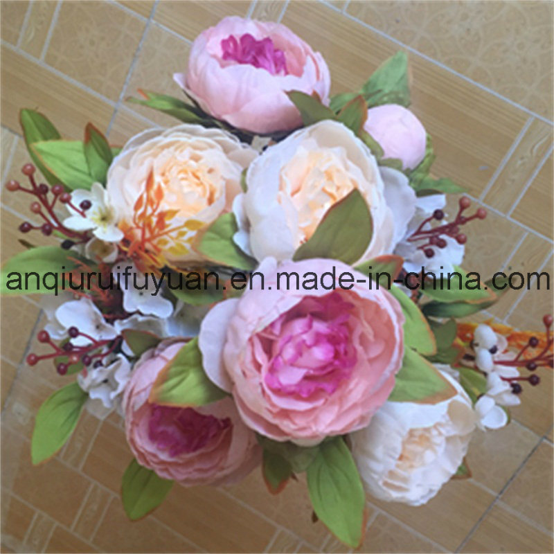 The Holiday Decorations with Artificial Flowers