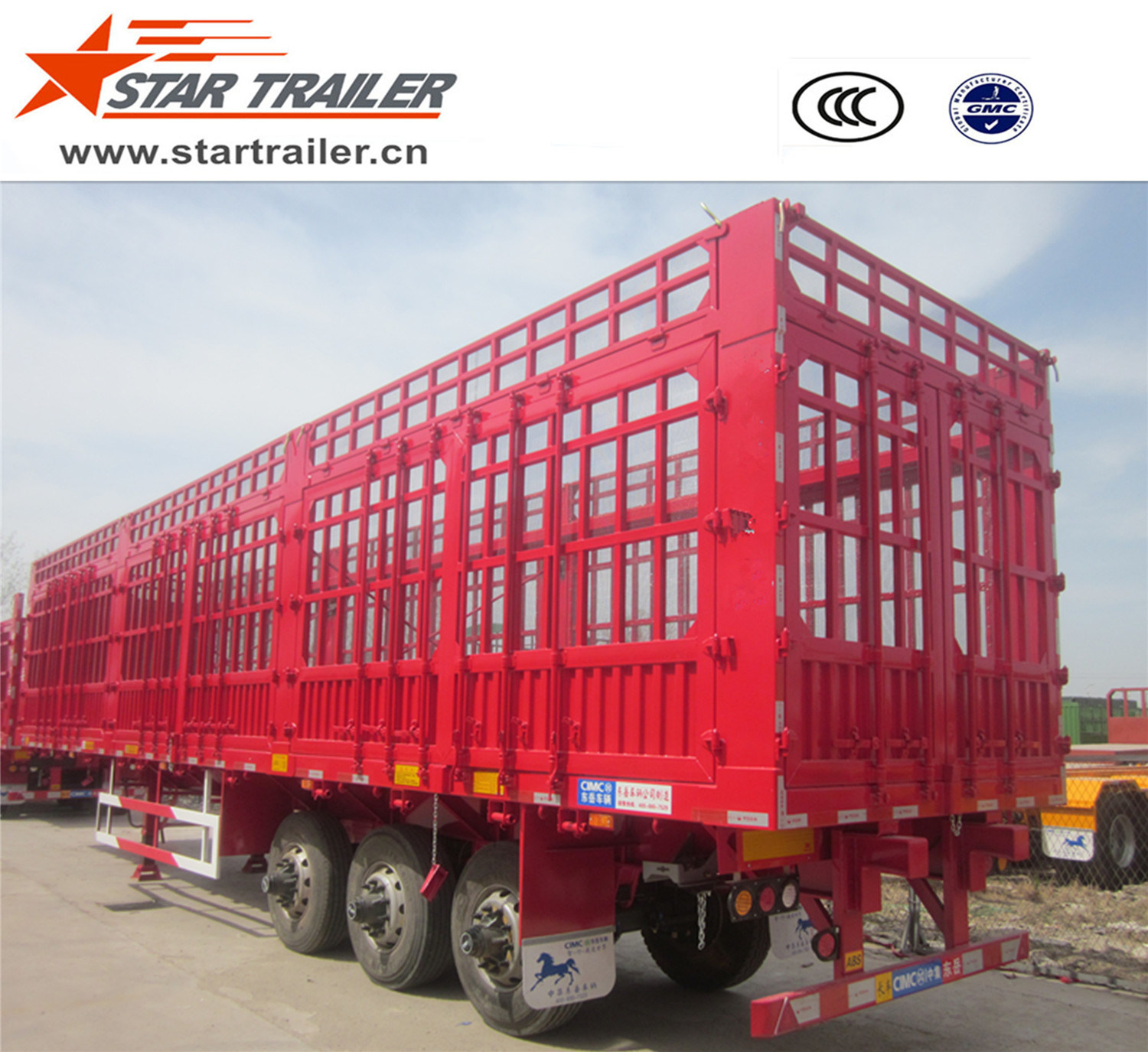 3 Axles Fender Cargo Trailer