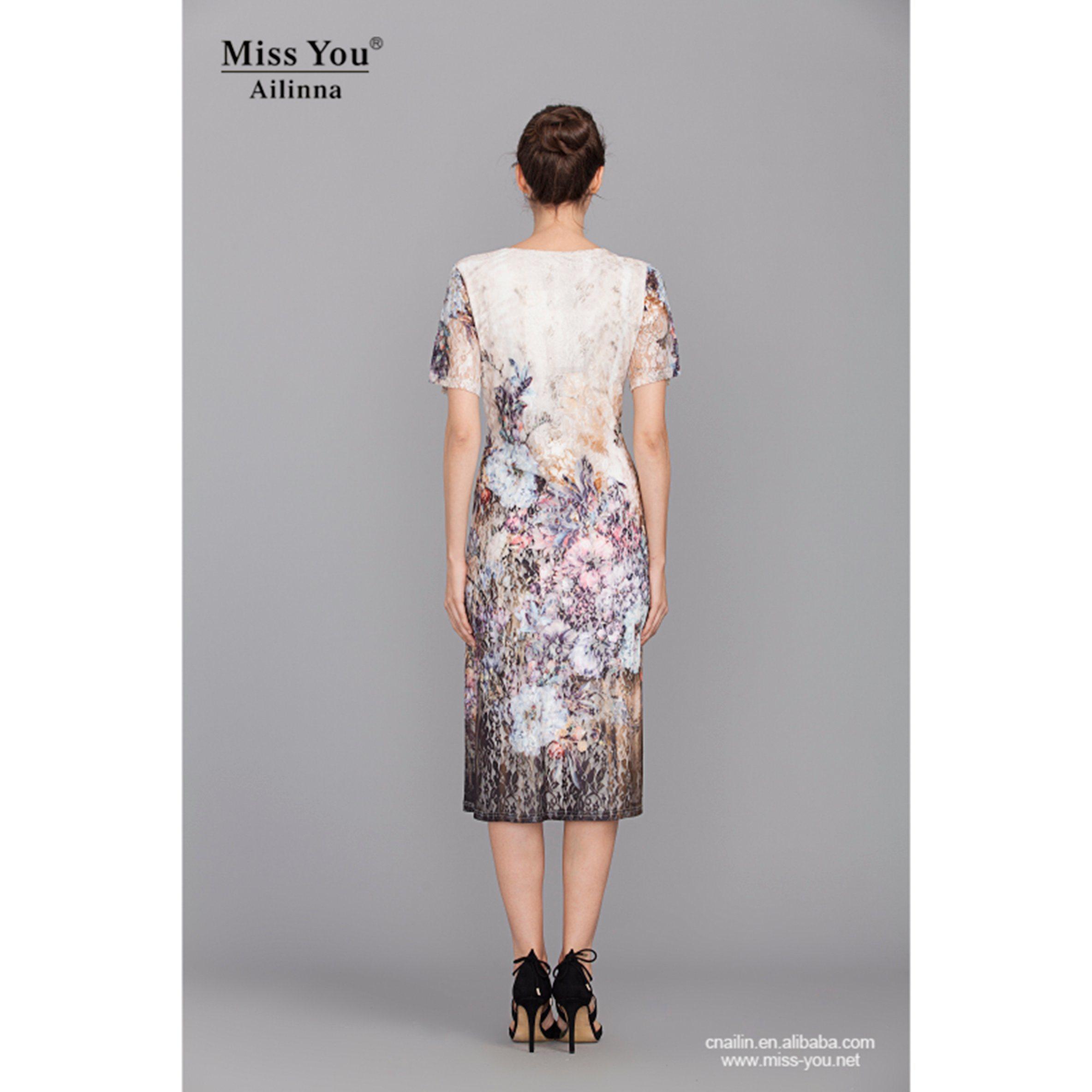 Miss You Ailinna 801398 Women Elegant White Lace Dress