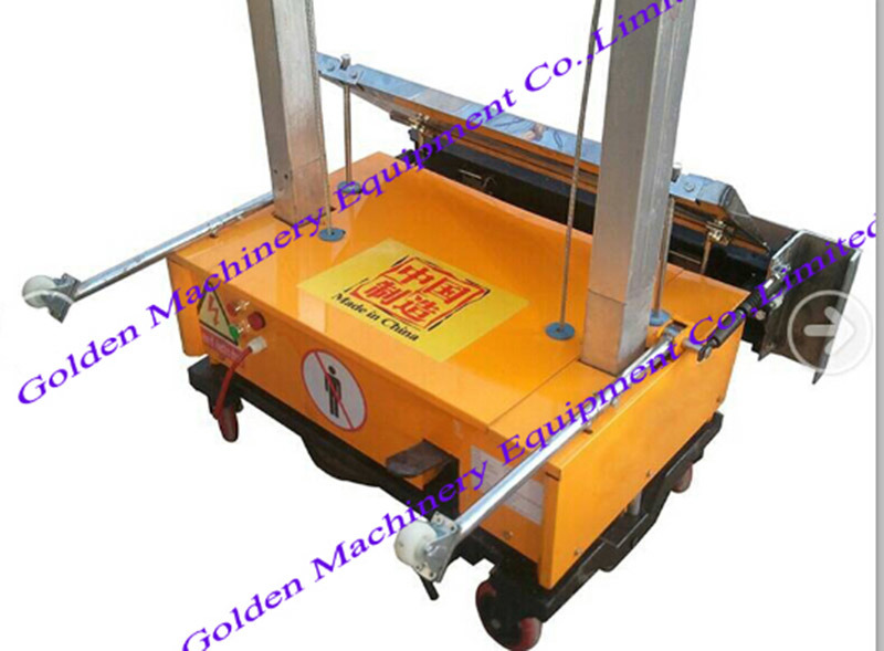 China Auto Cement Block Wall Plaster Rendering Plastering Machine